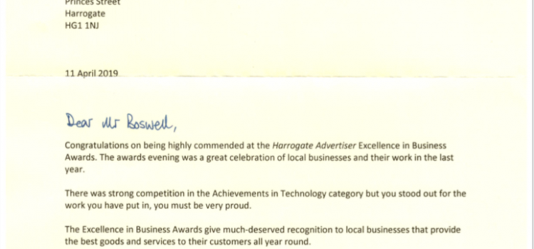 Local MP Praises Signa for Highly Commended Award